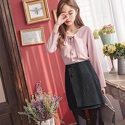 條紋兩片式造型短裙.1色-OB嚴選