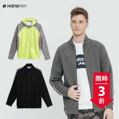 [時時樂限定]Hang Ten-男裝-休閒運動外套-四款選