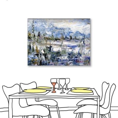 24mama掛畫-單聯式 藝術抽象 油畫風無框畫 60X80cm-北歐色彩