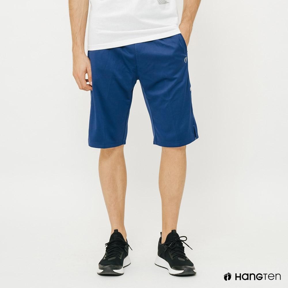 Hang Ten-ThermoContro-男裝素面反光印條機能休閒短褲-藍