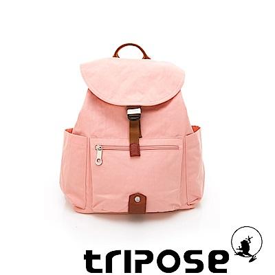 tripose MEMENTO系列微皺尼龍經典輕量後背包(小) 櫻花粉
