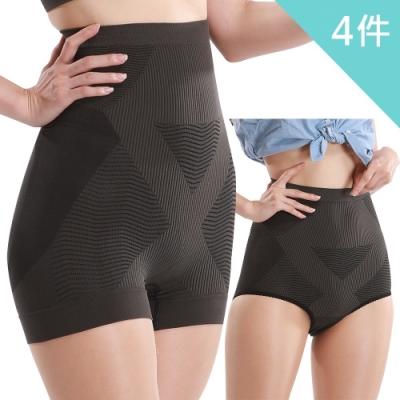 王鍺神奇激活回春H高能量護腰提臀褲 三角F號 (買2送2)體驗組 加贈日本進口保暖機能衣
