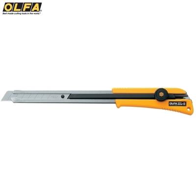 日本OLFA超長刀身大型美工刀XL-2(防滑橡膠握把)長桿型工具刀切割刀 適裝潢地毯縫細狹長空間