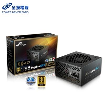 FSP 全漢 HGD450 黑爵士D 450W 80Plus 金牌 電源供應器