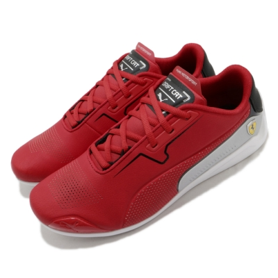 Puma 賽車鞋 SF Drift Cat 8 運動 男鞋 經典款 聯名 法拉利 球鞋 皮革 簡約 紅 灰 33993502