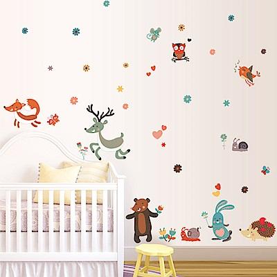 半島良品 DIY無痕壁貼-卡通小鹿 MJ7018  50x70cm
