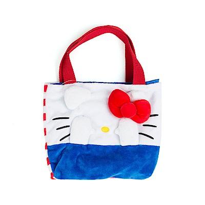 Sanrio HELLO KITTY躲貓貓造型絨毛迷你提袋S