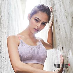 Mollifix 瑪莉菲絲 高調A++輕盈呼吸BRA (撞色淡紫+粉)