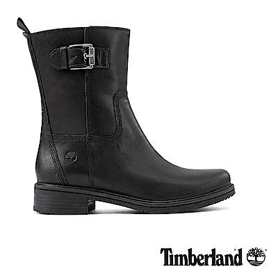 Timberland女款黑色全粒面皮革Mont 靴|A1SBS