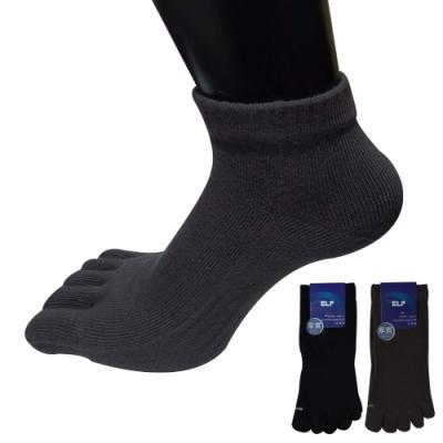 三合豐 ELF 厚磅精梳棉短統有後跟五趾襪~6雙