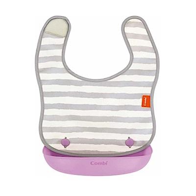 【麗嬰房】Combi 新防污口袋圍兜 (2款任選)