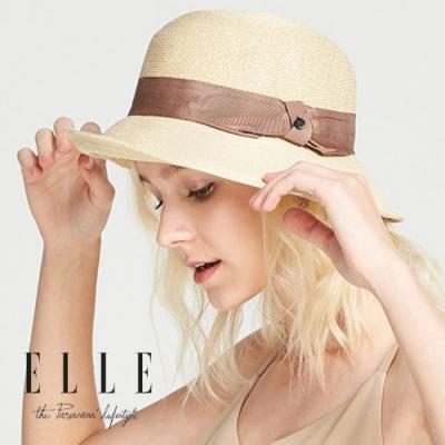 ELLE出遊太陽帽大帽沿防曬遮陽草帽