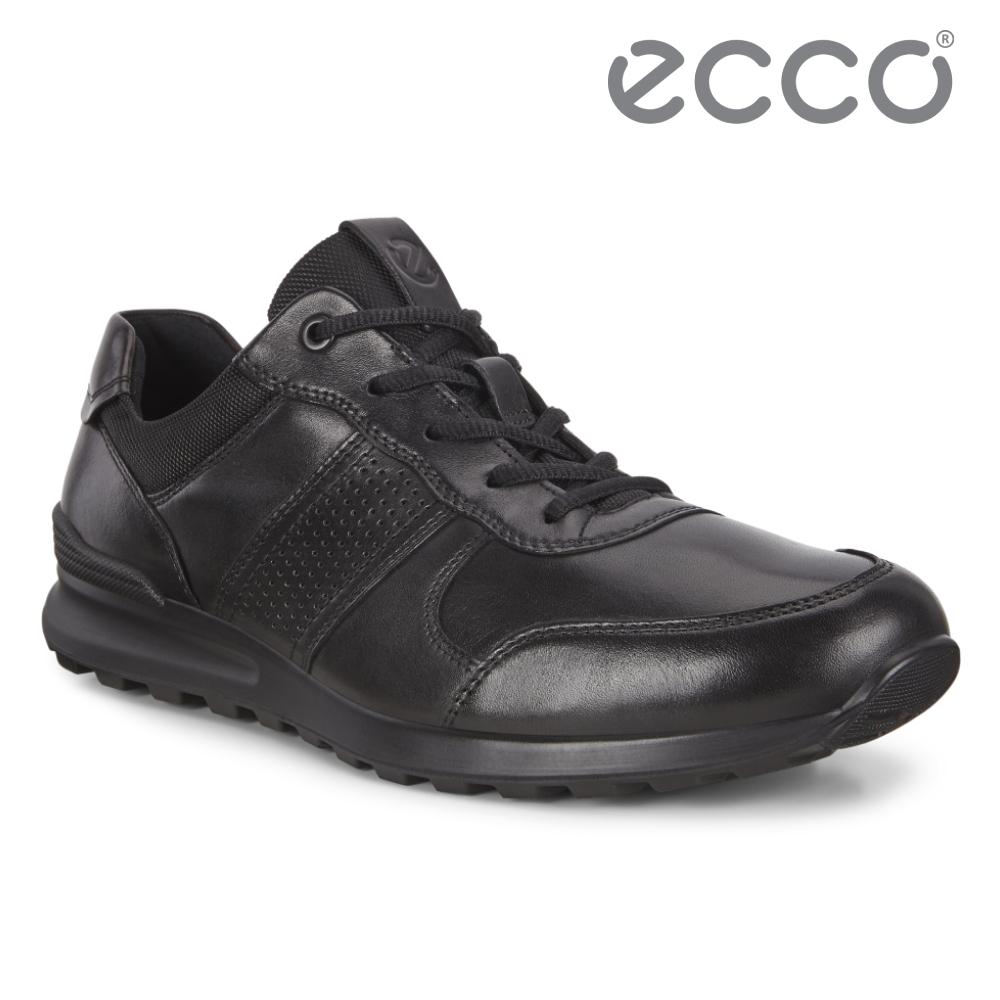 ECCO CS20 M 皮革運動風休閒鞋 網路獨家 男鞋 黑色