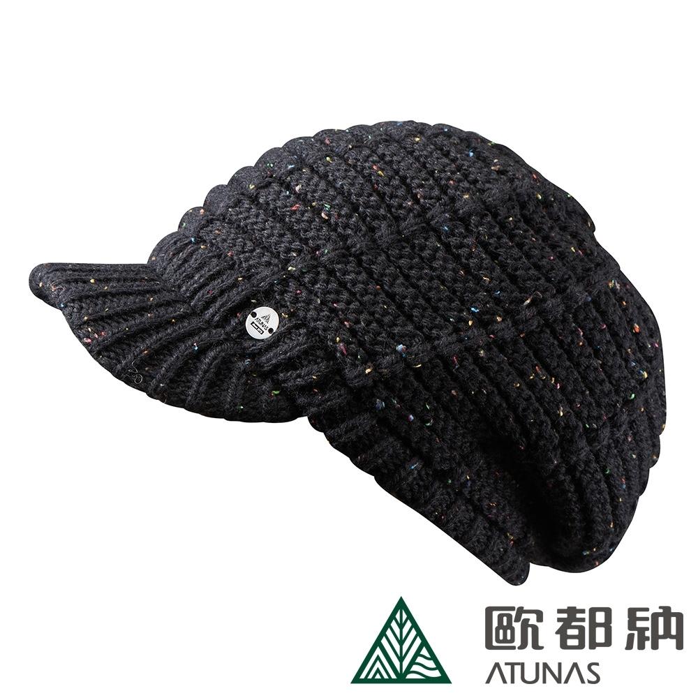 【ATUNAS 歐都納】PRIMALOFT都會羊毛保暖毛帽A2AH1903N黑
