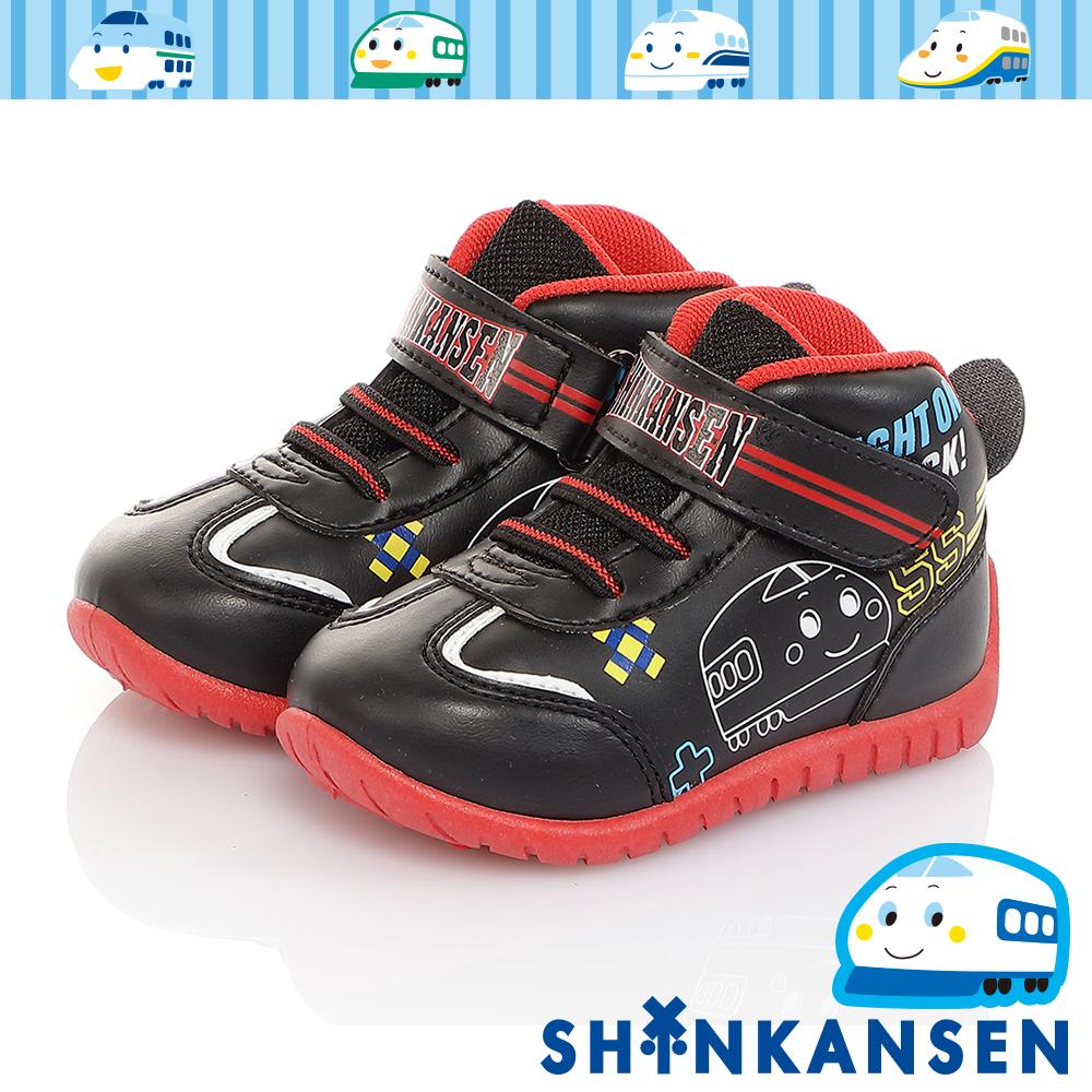 三麗鷗 新幹線童鞋 輕量減壓抗菌防臭高筒休閒鞋-黑