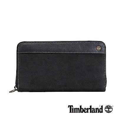 Timberland 深藍色拼接皮革長夾|A1DPG