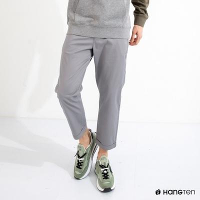 Hang Ten-男裝-TAPERED FIT錐形九分褲-灰色