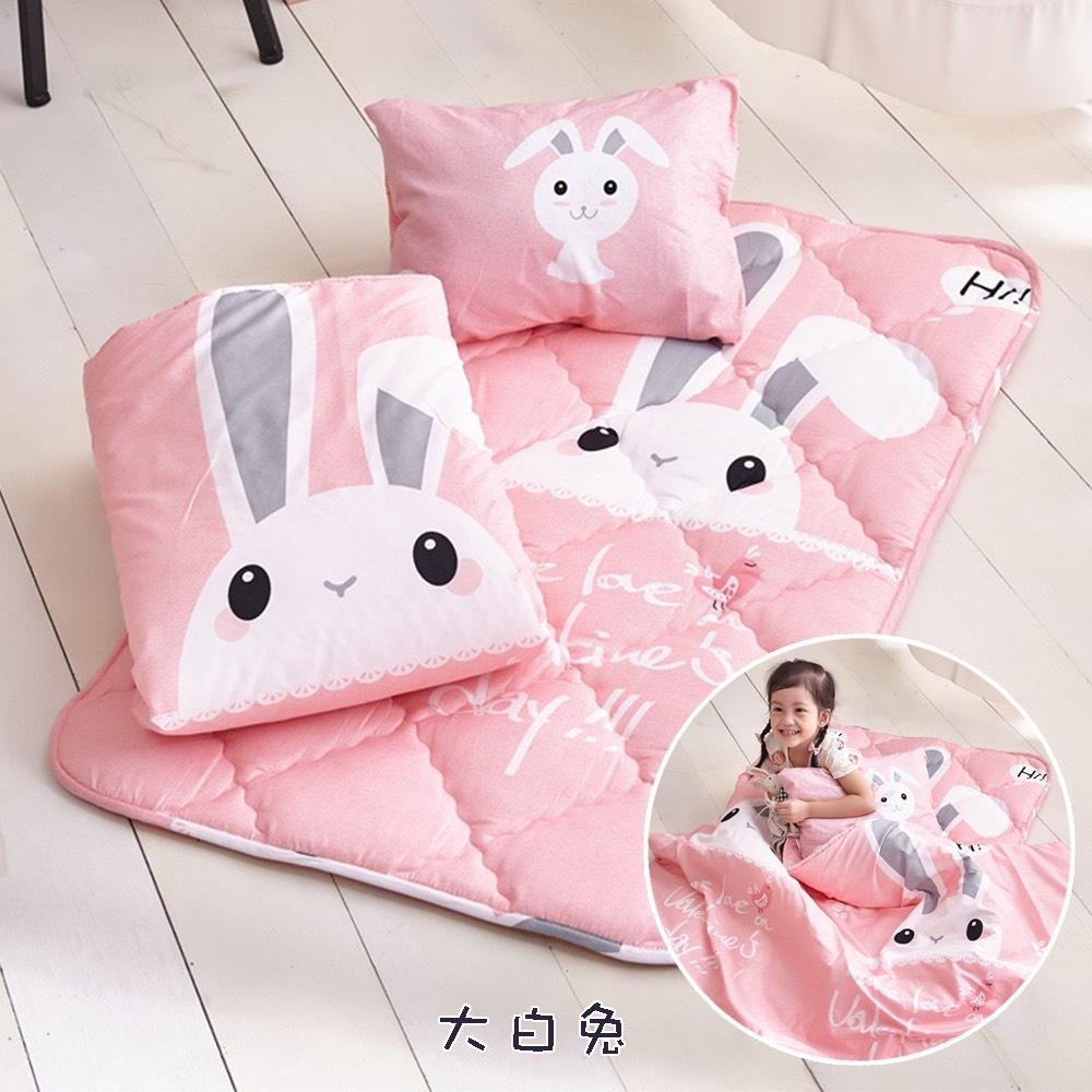 DF生活趣館 - 台灣製吸濕排汗透氣款兒童睡袋三件組(附提袋)