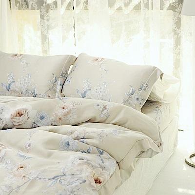 絲薇諾 60支天絲 杜牧 加大四件式-薄床包鋪棉被套組