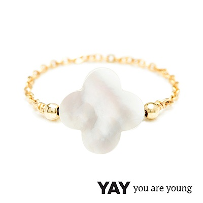 YAY You Are Young White Swan 天鵝湖珍珠母貝鍊戒 經典款