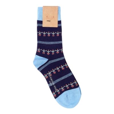 LES TOILES DU SOLEIL 法國蘇蕾包-女襪-薩達納舞-藍