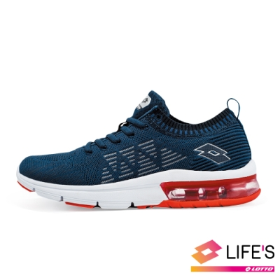 LOTTO 義大利 男 BREATHE 編織跑鞋 (深藍)