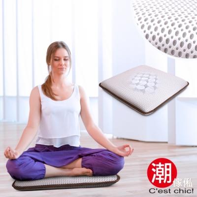 C est Chic  湖月閣獨立筒透氣瑜珈/打坐/和室墊-靜悅白
