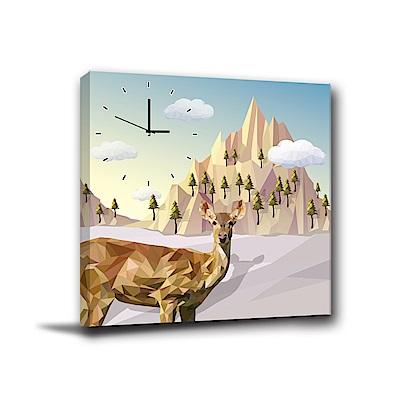 24mama掛畫-單聯式方形 掛畫無框畫 沙漠駱駝-40x40cm