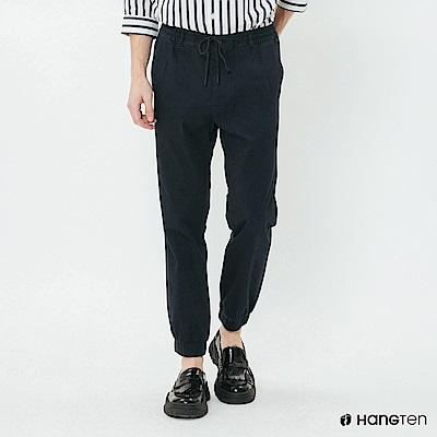 Hang Ten - 男裝 -鬆緊素面束口褲 - 深藍