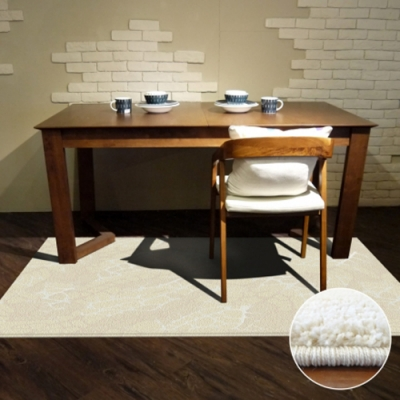 范登伯格 - 帕提斯 進口仿羊毛地毯 - 炫白 (165 x 235cm)