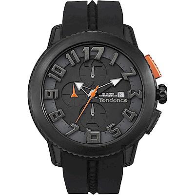 Tendence 天勢 圓弧系列計時手錶-黑/47mm(TY016001)
