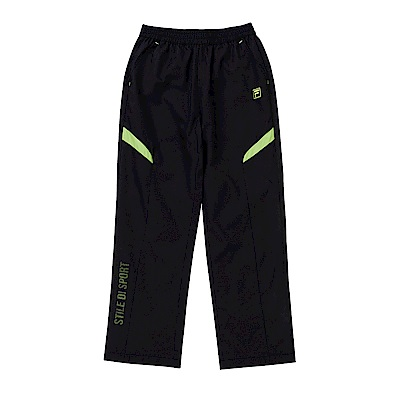 FILA KIDS 童吸濕排汗風衣長褲-黑 1PNS-8305-BK