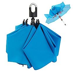 雙龍TDN 收的妙 一按秒收玻璃纖維反向傘-湖水藍