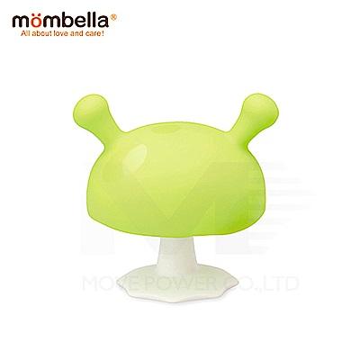 【任選】英國《mombella 》Q比小魔菇固齒器(綠色)