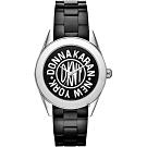 DKNY 紐約時尚25週年全球限量陶瓷手錶-黑/36mm NY2155