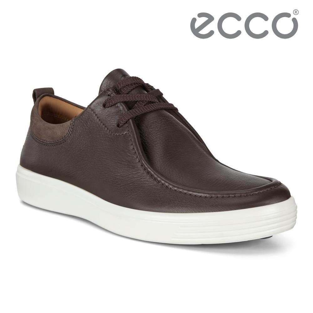ECCO SOFT 7 M 經典復古輕盈休閒鞋 男鞋 摩卡棕