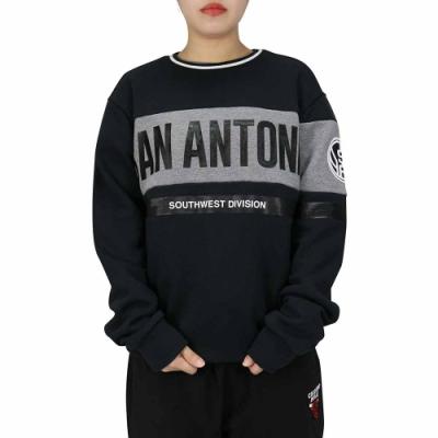 NBA Style C&S T-SHIRTS 拼接 大字燙印 長袖上衣 馬刺隊