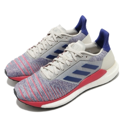 adidas 慢跑鞋 Solar Glide 運動休閒 女鞋 海外限定 愛迪達 透氣 球鞋穿搭 藍 紅 B96288