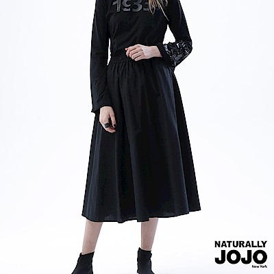 【NATURALLYJOJO】復古時尚大圓裙 (黑)