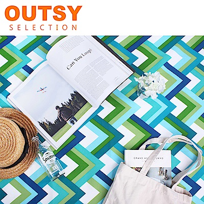 【OUTSY嚴選】限量款輕量印花野餐墊 群青日和