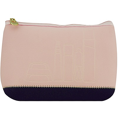 SHISEIDO資生堂   資生堂品牌化妝包(粉紫)