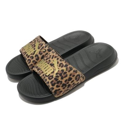 Puma 拖鞋 Popcat 20 套腳 女鞋 輕便 簡約 舒適 穿搭 豹紋 黑 棕 37446701