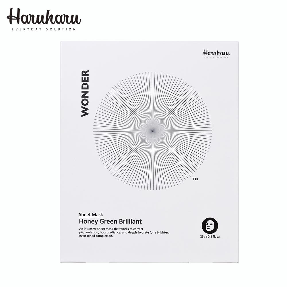 Haruharu 奇蹟活氧高效亮白蜂蜜綠茶美白面膜 25g*5入/盒