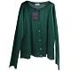 PRADA MILANO 品牌經典綠色羊毛混絲開襟針織衫外套(44號/女款) product thumbnail 1