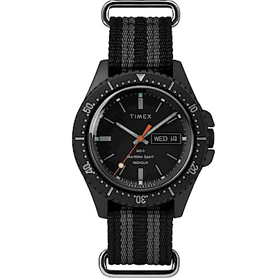 TIMEX天美時x TODD SNYDER聯名限量MS-1復刻手錶-黑41mm