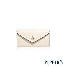 PEPPER'S Doris 牛皮信封鑰匙包 - 杏仁白