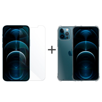 Metal-Slim Apple iPhone 12 Pro Max 強化防摔抗震空壓手機殼+玻璃貼