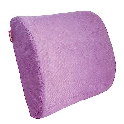 慢回彈短毛舒適腰靠一個(紫色)