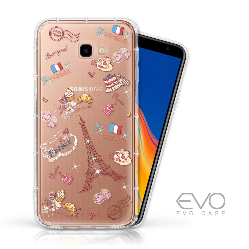 EVO CASE SAMSUNG J4+ 奧地利水鑽殼 - 甜點巴黎