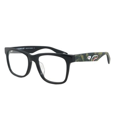 【BAPE 猿人】A Bathing Ape 鯊魚迷彩軍綠款光學眼鏡 PARKA02 GN-(無盒版)